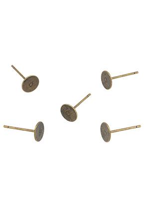 www.sayila.es - Pendientes de brass 12x6mm para piedras adhesivo > 6mm (13 conjuntos, excl. tapas)