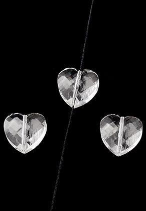 www.sayila.com - Glass heart faceted 16x8mm