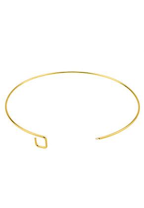 www.sayila.nl - Brass onderdeel voor het maken van een halsketting/spang 36cm, 2mm dik