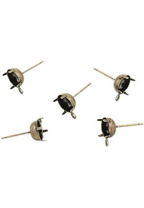 www.sayila.nl - Brass oorstekers 18x11x8mm voor 8mm similisteen