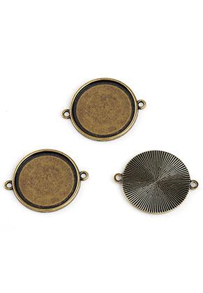 www.sayila.nl - Metalen tussenzetsels 34x28mm met kastje voor 25mm plaksteen