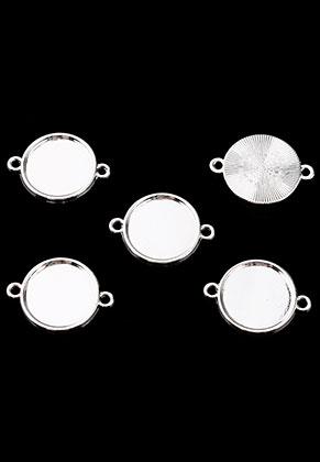www.sayila.es - Conectores de metal 29x21mm con cuadro para 18mm piedra adhesiva