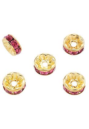 www.sayila.com - Brass spacer beads with strass 8x3,5mm