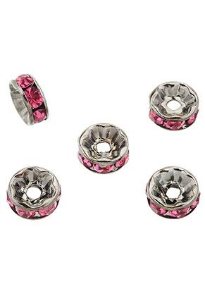 www.sayila-perlen.de - Brass Perlen Rondelle mit Strass 8x3,5mm