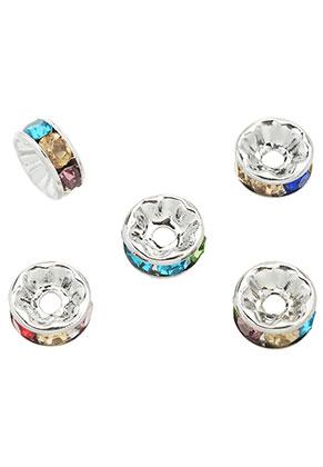 www.sayila.fr - Perles rondelle en brass avec strass 8x3,5mm
