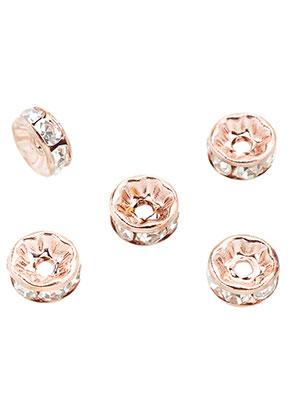 www.sayila.nl - Brass kralen rondel met strass 8x3,5mm