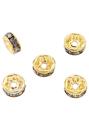 www.sayila.com - Brass spacer beads with strass 8x3,5mm