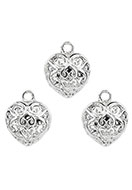 www.sayila.com - Baroque style metal pendants/charms heart 16x13mm - D25871