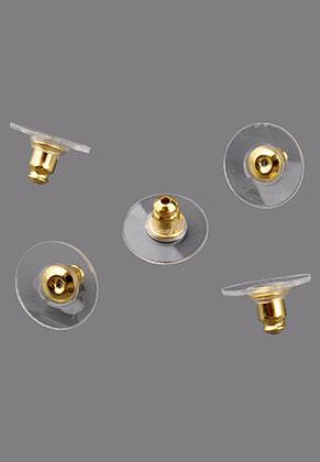www.sayila.be - Brass en kunststof oorbellendopjes 12x7mm