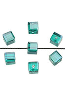www.sayila.com - Glass beads crystal cube faceted 6mm - D25936