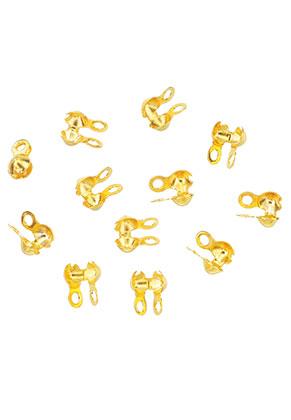 www.sayila.nl - Brass knijpkalot/klemmetjes voor bolletjeskettingen 6x3,5mm (± 95 st.)