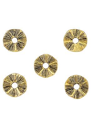 www.sayila.nl - Metalen kralen rondel golvend 10mm