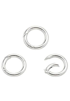 www.sayila-perlen.de - Metall EasyClip Ringe/Zwischenstück/Verschlüße 25mm