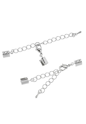 www.sayila.com - Metal extension chain 10cm with clips 11x7mm and clasps