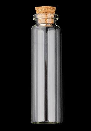 www.sayila.nl - Glazen flesje met kurk 115x30mm