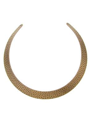 www.sayila.es - Pieza de metal para hacer un collar rígido 36x1,4cm