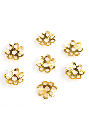 www.sayila-perlen.de - Metall Käppchen Filigran Blume 7,5x1,2mm (± 225 St.)