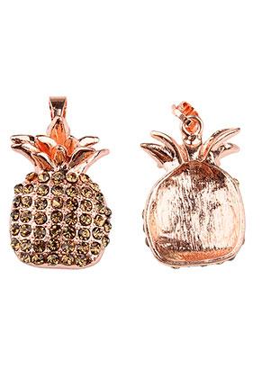www.sayila.com - Metal pendant pineapple with strass 36x20mm
