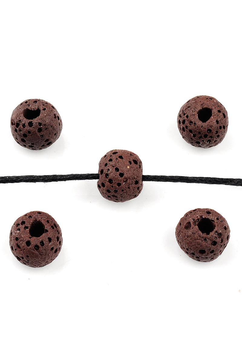 perles de parfum en pierre naturelle pierre de lave circulaire 8 9x7 5mm. Black Bedroom Furniture Sets. Home Design Ideas