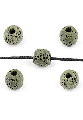www.sayila.co.uk - Natural stone perfume beads lava rock round 8-9x7,5mm