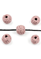 www.sayila.com - Natural stone perfume beads lava rock round 10-10,5x9,5mm - D26257