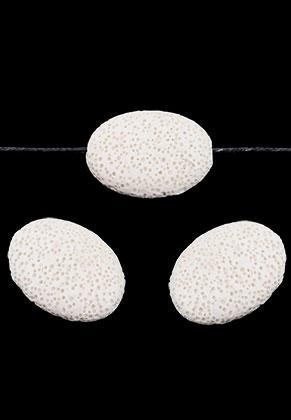 www.sayila.com - Natural stone perfume beads lava rock oval 32x24mm