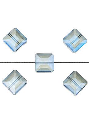 www.sayila.nl - Glaskralen kristal vierkant facet geslepen 13x13x8mm