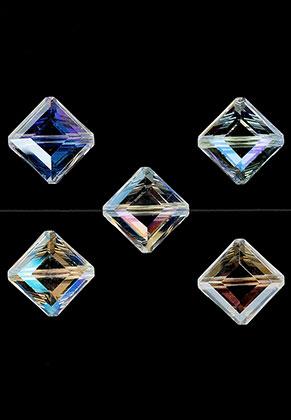 www.sayila.fr - Perles en verre cristal losange avec facettes 16,5x16,5x8mm