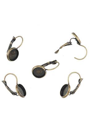 www.sayila.nl - Metalen klap oorbellen 23x12mm voor 10mm plaksteen
