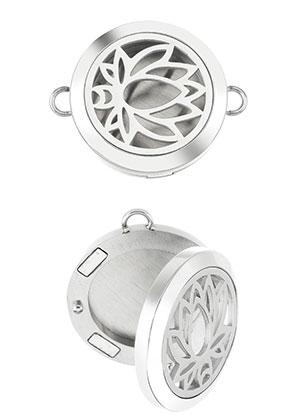www.sayila.com - Stainless steel connector/perfume locket DQ 31x25mm