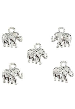 www.sayila.be - Metalen hangers/bedels olifant 11,5x11mm