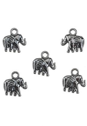 www.sayila-perlen.de - Metall Anhänger Elefant 11,5x11mm