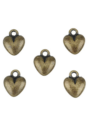 www.sayila.nl - Metalen hangers/bedels hartje 12x9,5mm