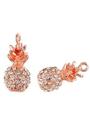 www.sayila.com - Metal pendants 3D pineapple with strass 25x12mm