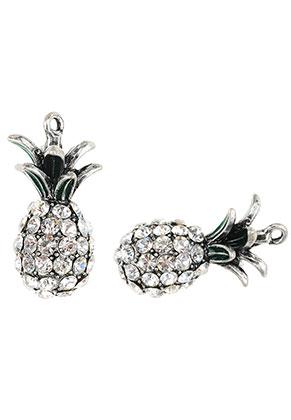 www.sayila.com - Metal pendants pineapple with strass 31,5x16mm