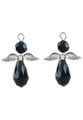 www.sayila.com - Metal and glass pendants angel 32x23,5mm