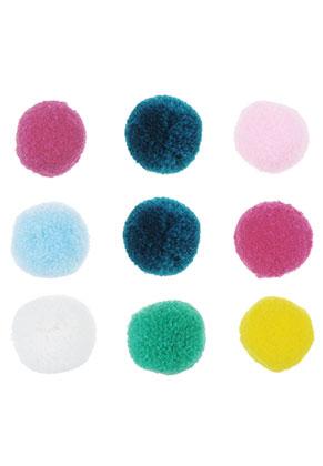www.sayila.be - Mix stoffen pompon balletjes 20mm