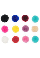 www.sayila.be - Mix stoffen pompon balletjes 15mm - D26440
