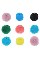 www.sayila.com - Mix textile pompoms with metal eye 25mm - D26442