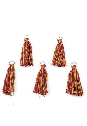 www.sayila-perles.be - Pompons en textile avec anneau 30x10mm