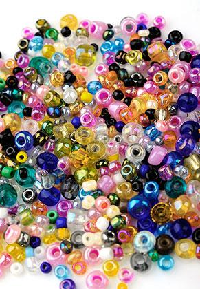 www.sayila-perlen.de - Mix glas Rocailles 12/0-6/0 2-4x1-3mm (± 1300 St.)