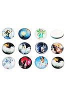 www.sayila.com - Mix glass flat backs/cabochons round with fairy 16mm - D26526
