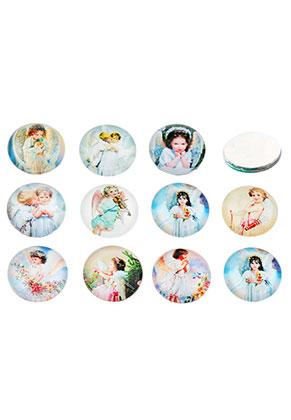www.sayila.com - Mix glass flat backs/cabochons round with angel 18mm