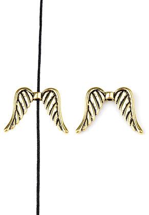 www.sayila.nl - Metalen kraal vleugels 32x24mm