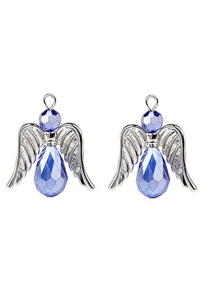 www.sayila.com - Metal and glass pendants/charms angel 36x32mm