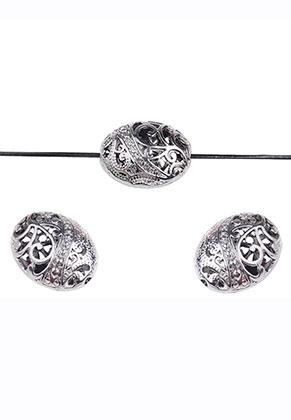 www.sayila.nl - Barok style metalen kralen ovaal 22x17mm