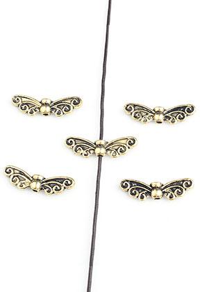 www.sayila.com - Metal beads wings 22x7mm