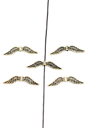 www.sayila.com - Metal beads wings 32x7,5mm