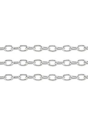 www.sayila.nl - Metalen ketting met 7,5x5mm schakels (100cm)
