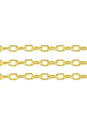 www.sayila-perlen.de - Metall Kette mit 7,5x5mm Glieder (100cm)